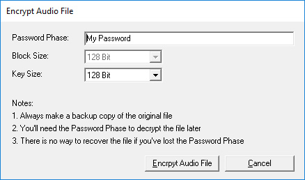 Audio File Protection
